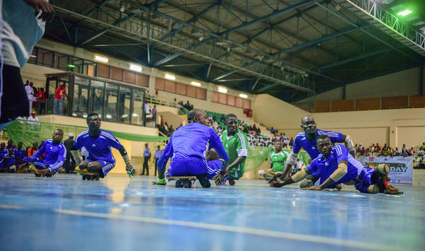 Polio survivors compete in a para-soccer tournament in Abuja, the capital of Nigeria.