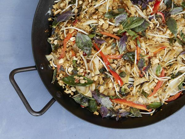 Pad kee mao, one of the plant-based offerings from The Purple Carrot.