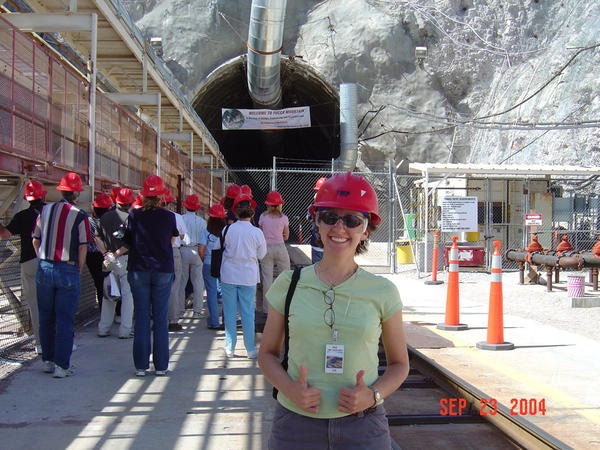 Frannie Smith on a tour of Yucca Mountain in Nevada as a graduate student. Yucca Mountain was the original concept for storing our nation's commercial and defense-related nuclear waste.