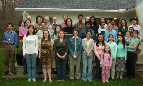 Frannie Smith along with her interdisciplinary 'Mega-Group' at the University of Michigan in 2007. The group contained Geology, Materials Science and Nuclear Engineering students.
