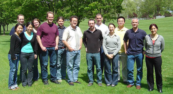 """''I loved being a post-doc in the Geochemistry group at Pacific Northwest National Laboratory,"""" said Frannie Smith. ''I started as a graduate student intern and liked it so much that I had to come back.'' She's seen here in a photo from 2010."""