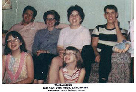 Susan Leckband (back row, third from left) and her siblings in Sioux City, Iowa, circa 1962.