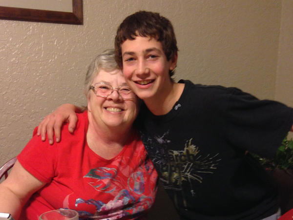 Susan Leckband and her grandson Alex. February 2014
