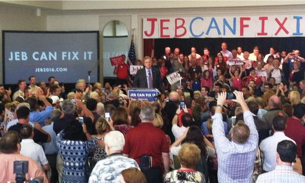 Jeb Bush speaks to several hundred people at the Tampa Garden Club