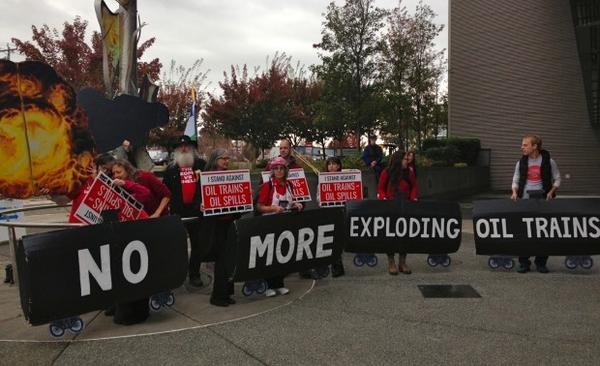 <p>Protesters at a recent rally in Lynnwood, Washington, which Carlo Voli organized.</p>
