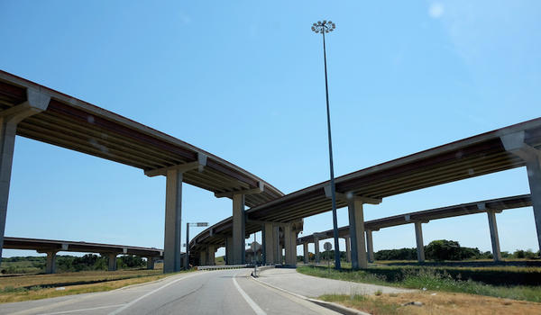 An overpass near Round Rock, Texas.