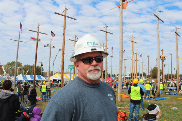 Danny Haithcock has been a lineman for 28 years. His great-grandfather, grandfather, younger brother and son have all worked, or currently do work, as linemen. He says 25 to 30 of his family members are in the business.