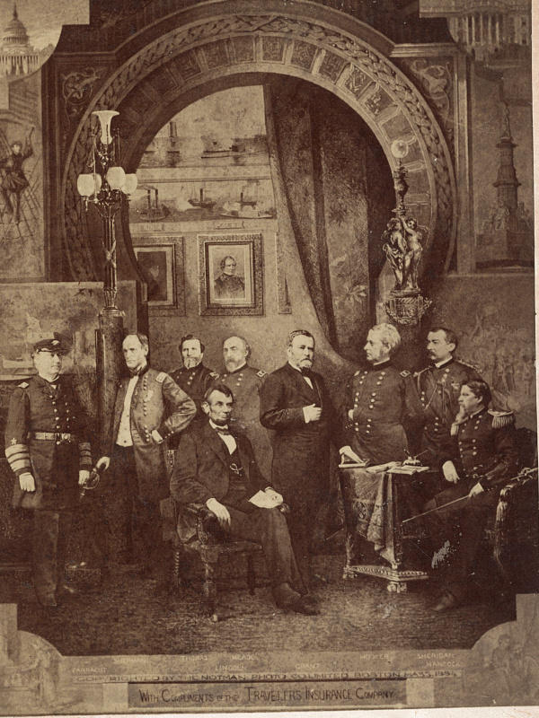 Union commanders in composite photo, 1883-84.