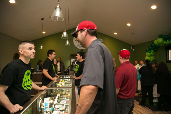 Elevation, a recreational marijuana shop on the Squaxin Island Indian Reservation, held a ''soft opening'' on Tuesday.