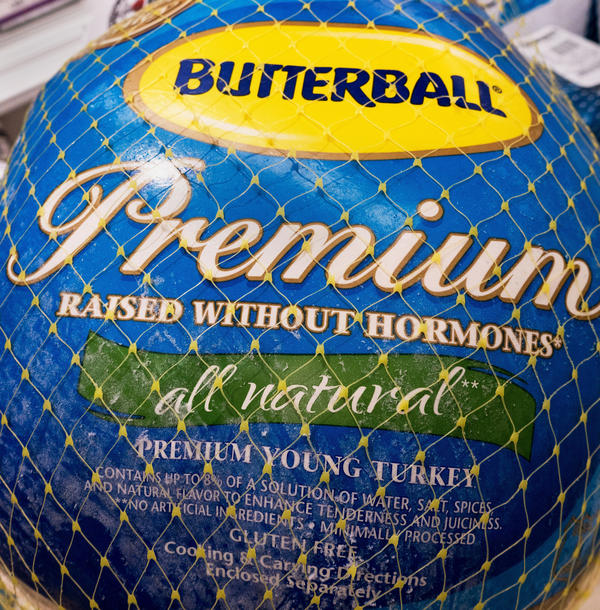 "A Butterball turkey for sale in November 2014, in Centreville, Va. Terms like ""premium"" and ""raised without hormones"" tell you little about the quality of the turkey or how it was raised."
