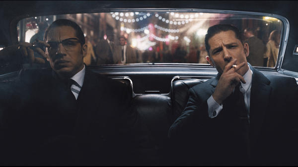 Twin gangster brothers Ronnie and Reggie Kray are played by Tom Hardy in <em>Legend</em>.