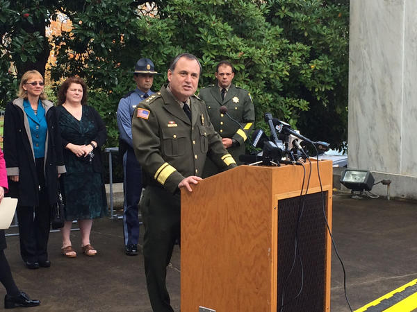 Clackamas County Sheriff John Roberts outlines the recommendations of the Oregon Task Force on School Safety.