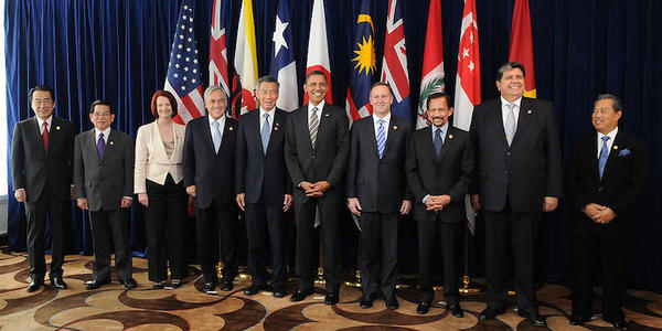 Leaders of the Trans-Pacific Strategic Economic Partnership member states met earlier this year to discuss what became the Trans-Pacific Partnership agreement.