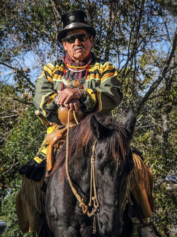 Moses Jumper is a member of the Snake Clan, a former athletic director for the tribe, and a popular re-enactor in Seminole events around Florida.