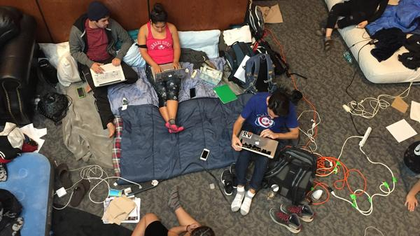 Student protesters staged an Occupy-style protest inside Occidental's Arthur G. Coons Administrative Center for nearly a week.