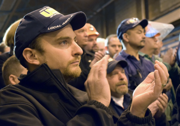 United Steelworkers Local 420-A President Robert Smith as Gov. Andrew Cuomo announces Alcoa deal.