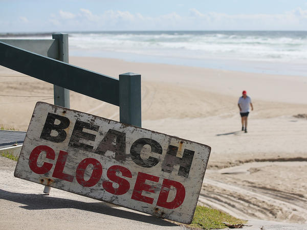Shelly Beach in Ballina, Australia, was closed following a fatal shark encounter there in February.