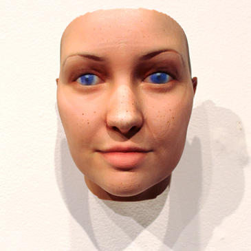 Self portrait by Heather Dewey-Hagborg. Portrait generated from her own DNA.