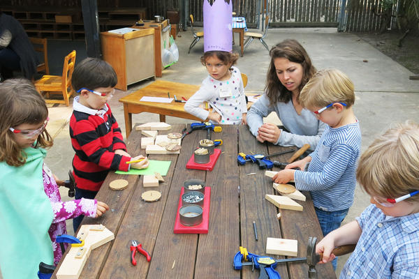 At Stanford University's Bing Nursery School in Palo Alto, Calif., blocks play a significant role in helping children to think creatively, solve problems and think like young mathematicians.