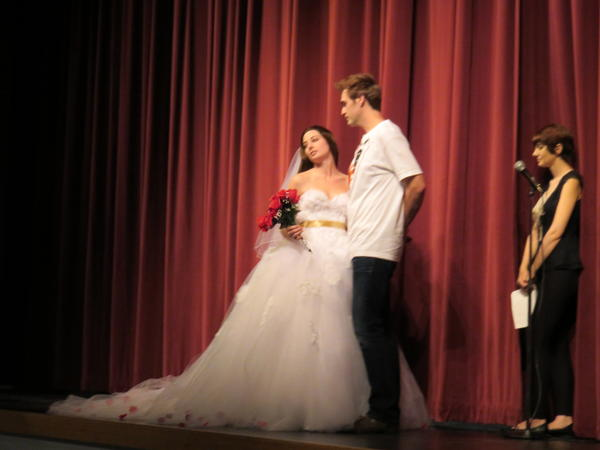 There were a bunch of ''cosplayers'' at a Twilight costume contest at Forks High School, including a dead ringer for teen heartthrob Robert Pattison who posed with Savanna Vickers of Independence, Oregon.