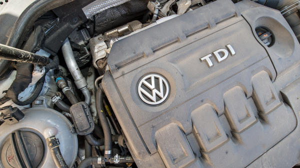 "Diesel car engines like this one in a 2012 Volkswagen Golf are among those that <a href=""http://www3.epa.gov/otaq/cert/violations.htm"" target=""_blank"">include software that circumvents</a> EPA emissions standards for certain air pollutants."