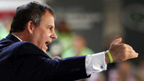 New Jersey Gov. Chris Christie speaks at a No Labels Problem Solver convention in Manchester, N.H., in October 2012.
