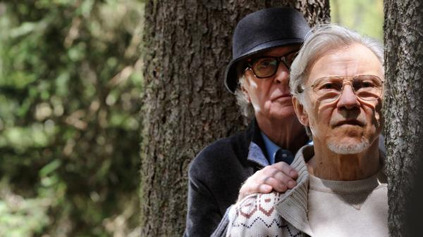 Michael Caine as aging composer Fred Ballinger and Harvey Keitel as Mick Boyle, a filmmaker, play septuagenarian best friends in <em>Youth</em>.