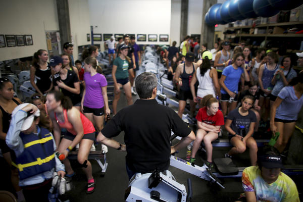 Nick Haley coaches more than 100 high school and middle school students in rowing, respect and hard work.