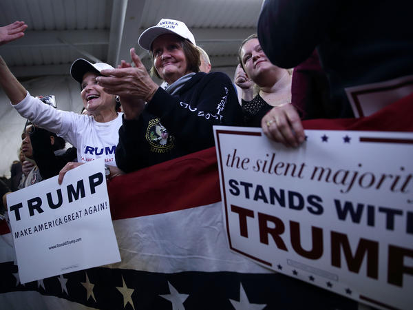 With supporters as fervent as these, Donald Trump has found he doesn't need TV ads to stay afloat in the packed GOP field.
