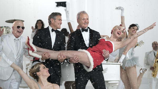 Paul Shaffer, George Clooney and Miley Cyrus are among the guests who join Bill Murray in <em>A Very Murray Christmas,</em> available Friday on Netflix.