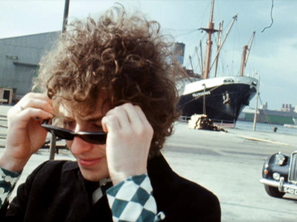 "Bob Dylan, in a scene from a new video for the song ""Just Like Tom Thumb's Blues."""