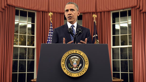 President Obama addressed the nation from the Oval Office at the White House on Sunday night.