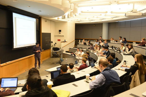 Students participate in a class at the Wharton School of Business at the University of Pennsylvania. (upenn.edu)
