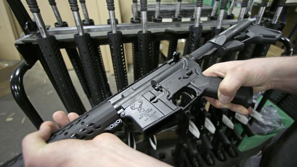Chicago suburb Highland Park banned the possession of what it called assault weapons, including AR-15s, like this one, and AK-47s, as well as large capacity magazines. Gun rights advocates challenged the ban, contending that it violated the Second Amendment's guarantee of a right to bear arms.
