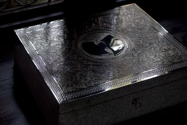 A handcrafted silver box by the British-Moroccan artist Yahya holds the only known copy of the Wu-Tang Clan double album <em>Once Upon A Time In Shaolin. </em>