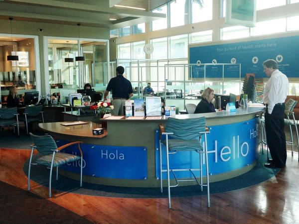 Inside the Florida Blue Retail Center in Tampa