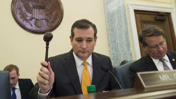 Sen. Ted Cruz, R-Texas, leads the Subcommittee on Space, Science and Competitiveness during a hearing on climate change on Tuesday.