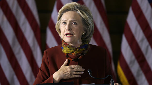 Democratic presidential candidate Hillary Clinton speaks about her counterterrorism strategy during a speech at the University of Minnesota in Minneapolis on Tuesday.