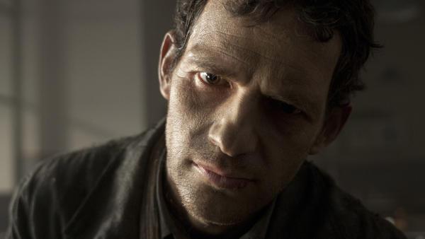 Geza Rohrig as Saul in <em>Son of Saul</em>.