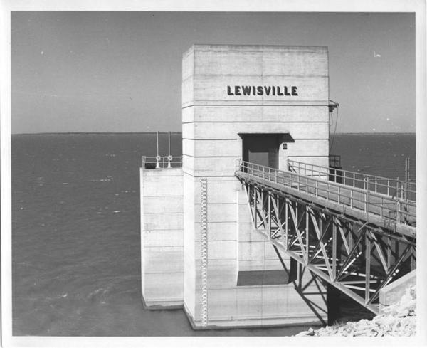 An undated photo from Lewisville Lake Dam Control Station. The dam was engineered in 1927.
