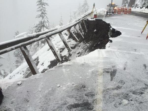 Crews are hoping to open U.S. Highway 12 at White Pass by Christmas.