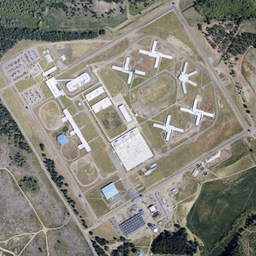 Aerial view of the Washington Corrections Center in Shelton, where Robert T. Jackson, Jr. was released early by mistake in August 2015.