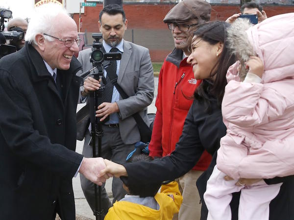 On Dec. 23, Sanders stopped to talk to a family on his way to an event in Chicago's Little Village neighborhood. According to UVM political science professor Garrison Nelson, Sanders must broaden his base if he hopes to succeed in 2016.