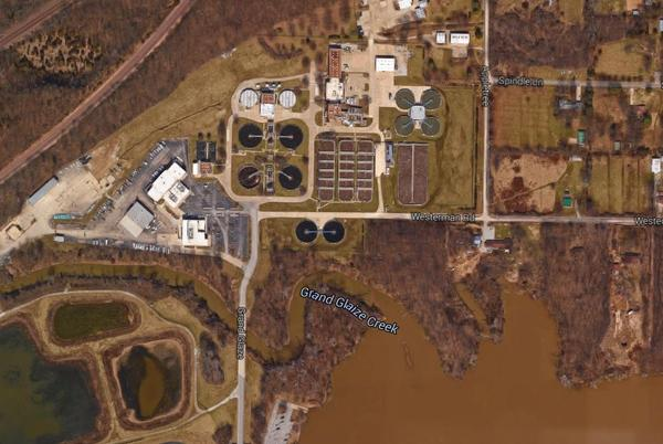 The Metropolitan St. Louis Sewer District is working around the clock to keep floodwaters away from its Grand Glaize facility in Valley Park, Mo.