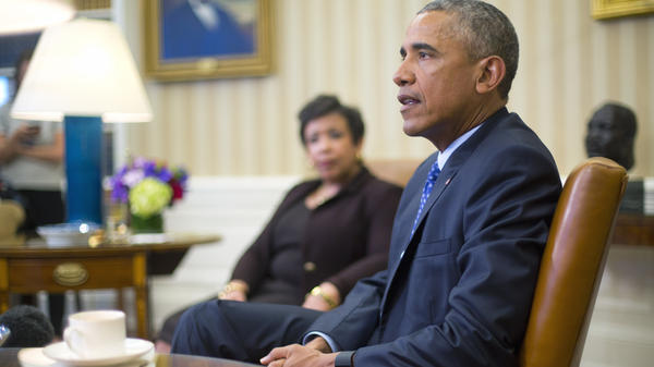 President Obama met with Attorney General Loretta Lynch and law enforcement officials Monday to discuss executive actions the president can take to curb gun violence. The president is also expected to speak about guns Tuesday.