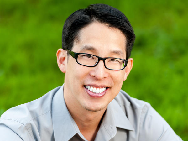 Author Gene Luen Yang is the author of books including <em>American Born Chinese </em>and <em>Level Up</em>.
