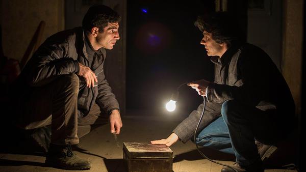 Cuzin Toma and Adrian Purcarescu in a scene from <em>The Treasure</em>.