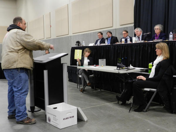 <p>More than 325 people signed up to speak at a hearing on the proposed Vancouver Energy oil terminal Tuesday.</p>