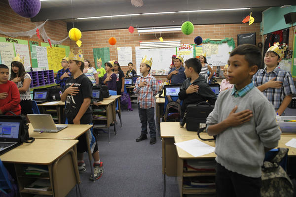 Los Ninos Elementary serves mostly Mexican-American and Native American families, as well as a few Somali students.