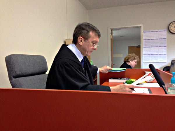 Superior Court Judge David Edwards presides over truancy court in Grays Harbor County.